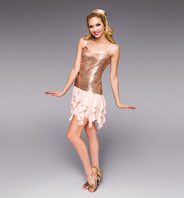 Children's Adult Latin Dance Costume Sequin Sling Dress Modern Dance Wear Costume