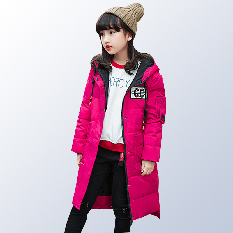 Girls Winter Coat 80% White Duck Down Warm Baby Girl Outerwear Coat Kids Clothes Children Clothing Down Jacket for Teen Girl 2017 date 2 under ultra light baby girl duck down jacket down over 90% of hot spring autumn winter coat with cap kids clothes