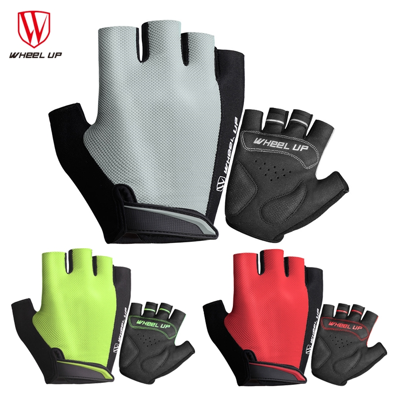 WHEEL UP Motorcycle Gloves Summer Half Finger MTB Sponge Padded Shockproof Guantes Moto Motocicleta Motorbike Moto Gloves S-XL(China)