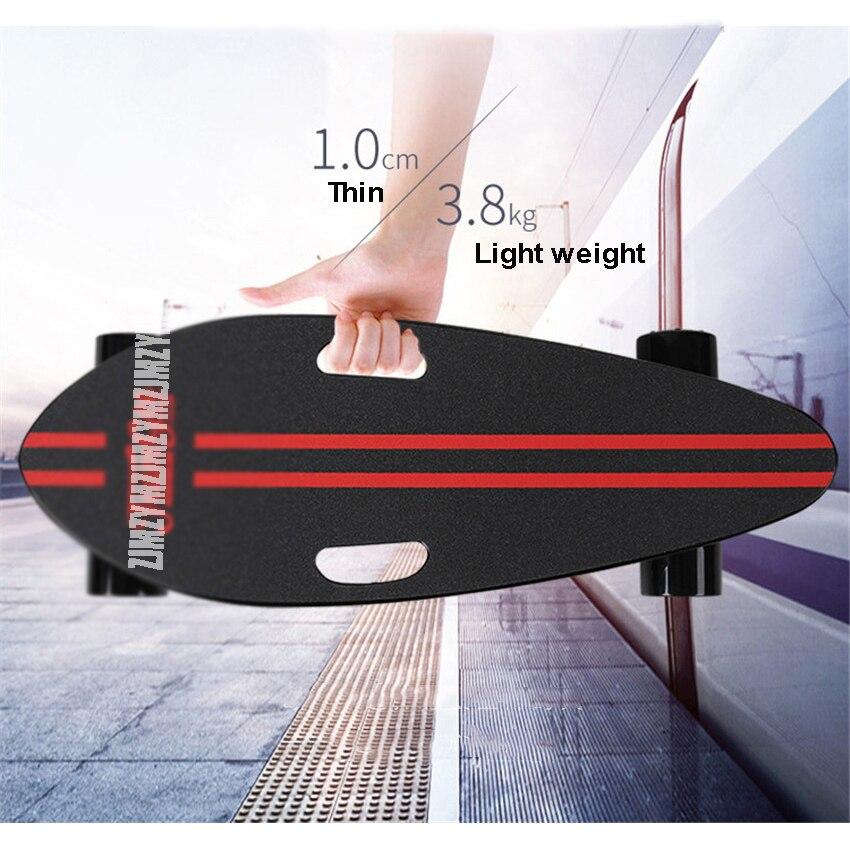 Ultra-mince 10mm 3.8 kg Mini Originale Planche À Roulettes 4 Roues Planche À Roulettes De Poisson Scooter Max Vitesse de Déplacement 30 km/h Panneau de Rue Pour Les Enfants Adultes
