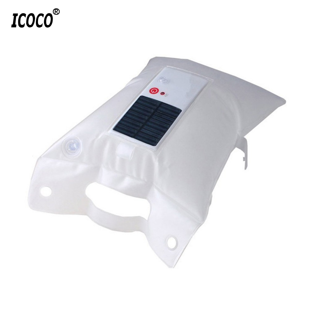 ICOCO Inflatable Solar Light Waterproof LED Outdoor Camping Light Portable Foldable PVC Bag Lamp Led Camp Tent Fishing Light