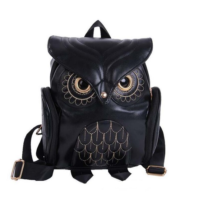 Aliexpress.com : Buy Fashion Embossing Owl Backpack Women Small ...
