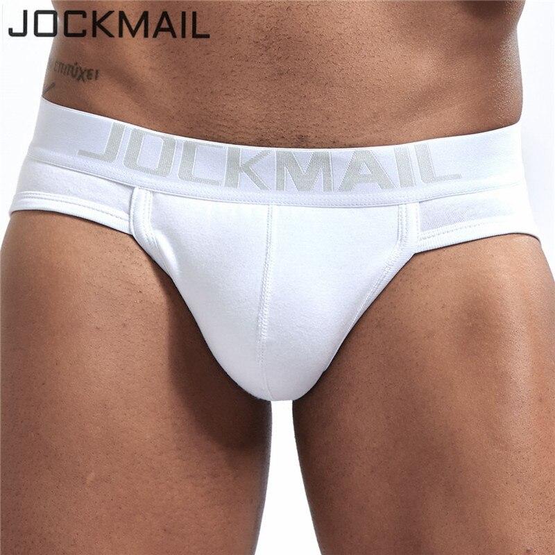 Трусы-брифы JOCKMAIL мужские, нижнее белье, U-образные трусы, гей-трусы, белые