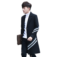 2017 New Men S Stripes Long Coats Jackets Fashion Business Casual Men Trench Hot Sales Slim