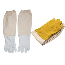 Beekeeping Protective Gloves Sheepskin Sleeves ventilated Professional Anti Bee for Apiculture Beekeeper  beehive unisex anti bee clothing cotton beekeeper bee clothing bee caps 1pair sheepskin gloves apiculture costume white grey color