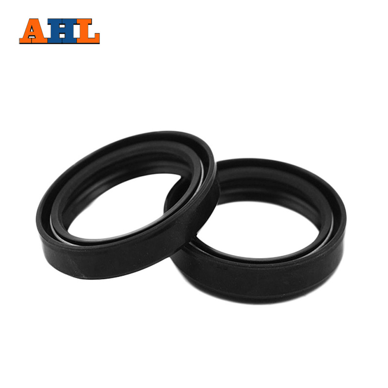 US $4 19 30% OFF|AHL 35x48x11 Motorcycle Front Fork Damper oil seal for  YAMAHA DT125 RD350 XS400 Shock absorber oil seal-in Falling Protection from