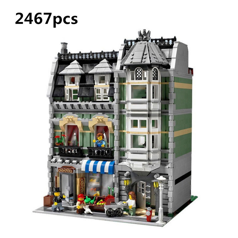 Lepin Technic 15008 2462Pcs City Street Green Grocer Model Building Kits Blocks Bricks Compatible Educational Toys 10185 Palace lepin 15008 new city street green grocer model building blocks bricks toy for child boy gift compatitive funny kit 10185 2462pcs