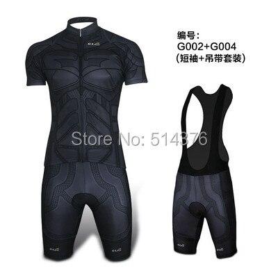 Prix pour Super Hero Noir batman vélo jersey polyester séchage rapide homme vélo/vélo porter des vêtements courts ropa ciclismo