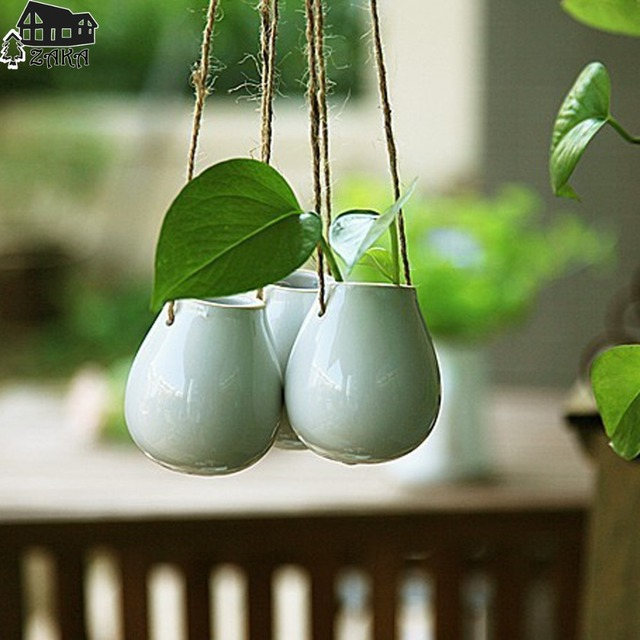 livraison gratuite nouvelle arriv e zakka style nordique suspendus blanc vase de fleurs en. Black Bedroom Furniture Sets. Home Design Ideas