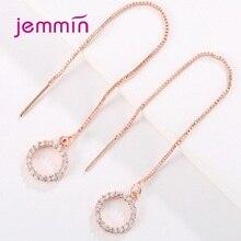 купить Pendientes Mujer Boho Jewelry 925 Sterling Silver Heart Dangle Long Statement Piercing Cubic Zirconia Drop Earrings For Women дешево