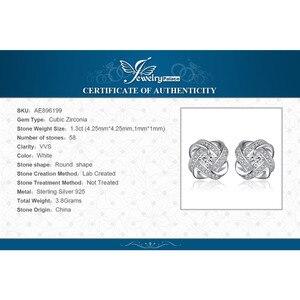 Image 5 - Ювелирные изделия, серьги гвоздики с сердечками, CZ, 925 пробы, серебряные серьги для женщин, девочек, корейские серьги, модные ювелирные изделия 2020