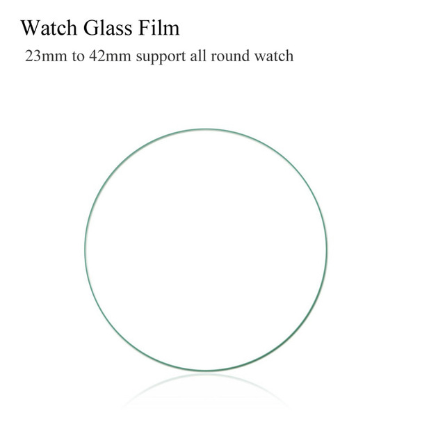 10PCS Universal Round 23 27 29  31 32 33 34mm 36mm 38mm 40mm 42mm For samsung S2 S3 gear Case Watch Glass Screen Protector