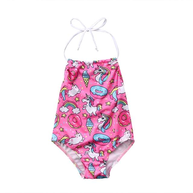 d6db957f0 2018 Unicorn Baby Swimsuit Bathing Bikini Kids Girls Rainbow Unicorn Bikini  Beachwear Swimwear Swim Bathing Suit Swimsuit-in Swimwear from Mother & Kids  on ...
