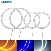 LEEWA 2X90mm 2X126mm 4pcs/Set Car SMD LED Halo Rings Angel Eyes DRL Head Lamp For VOLKSWAGEN Golf 4 White/Blue/Yellow #CA3774