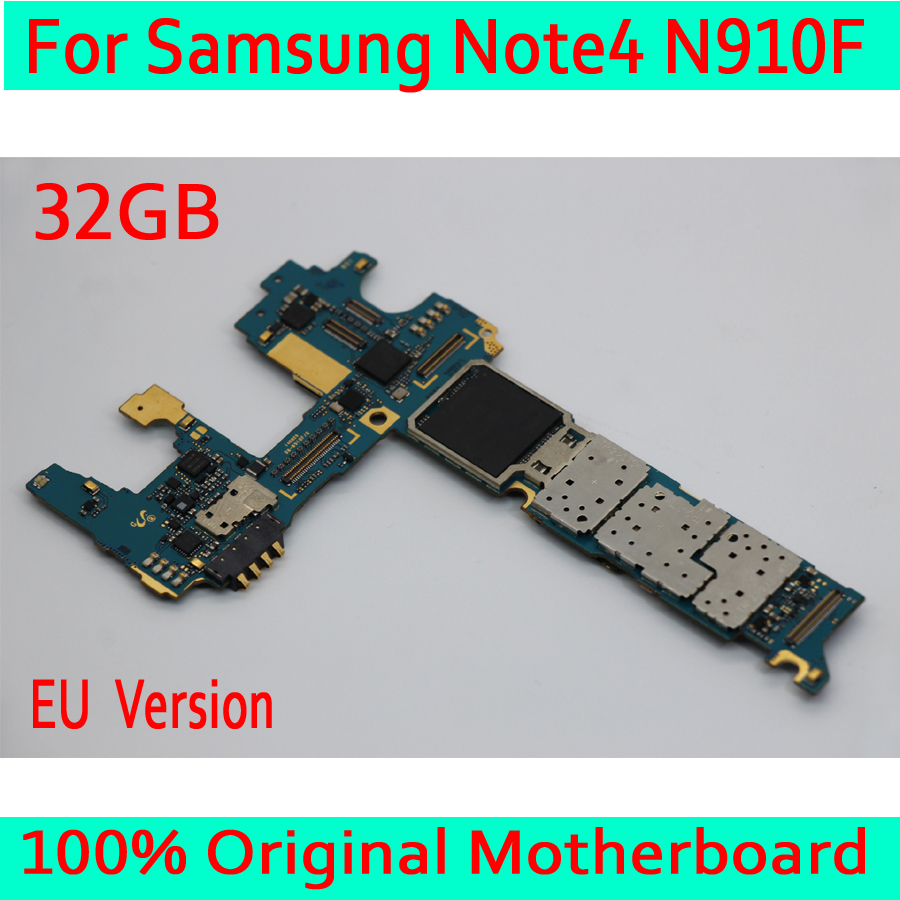 32GB for <font><b>Samsung</b></font> <font><b>Galaxy</b></font> <font><b>Note</b></font> <font><b>4</b></font> N910F <font><b>Motherboard</b></font> with Android System ,Original unlocked for <font><b>Samsung</b></font> <font><b>Note</b></font> <font><b>4</b></font> N910F Mainboard image