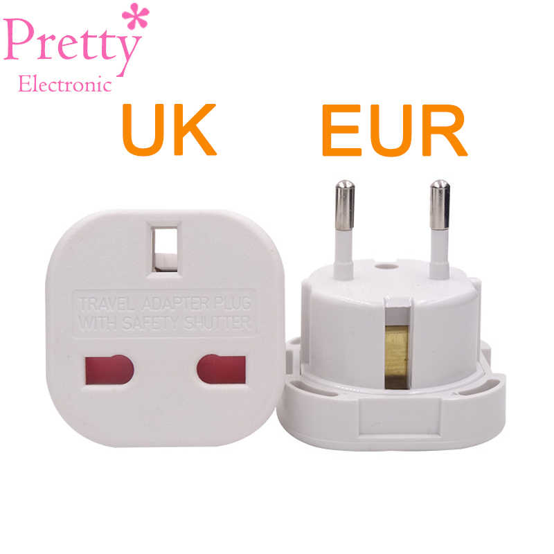 Wielkiej brytanii, aby europejskie Euro ue AC ładowarka podróżna przejściówka Outlet Converter Adapter konwersji mocy wtyczka uniwersalny telefon komórkowy