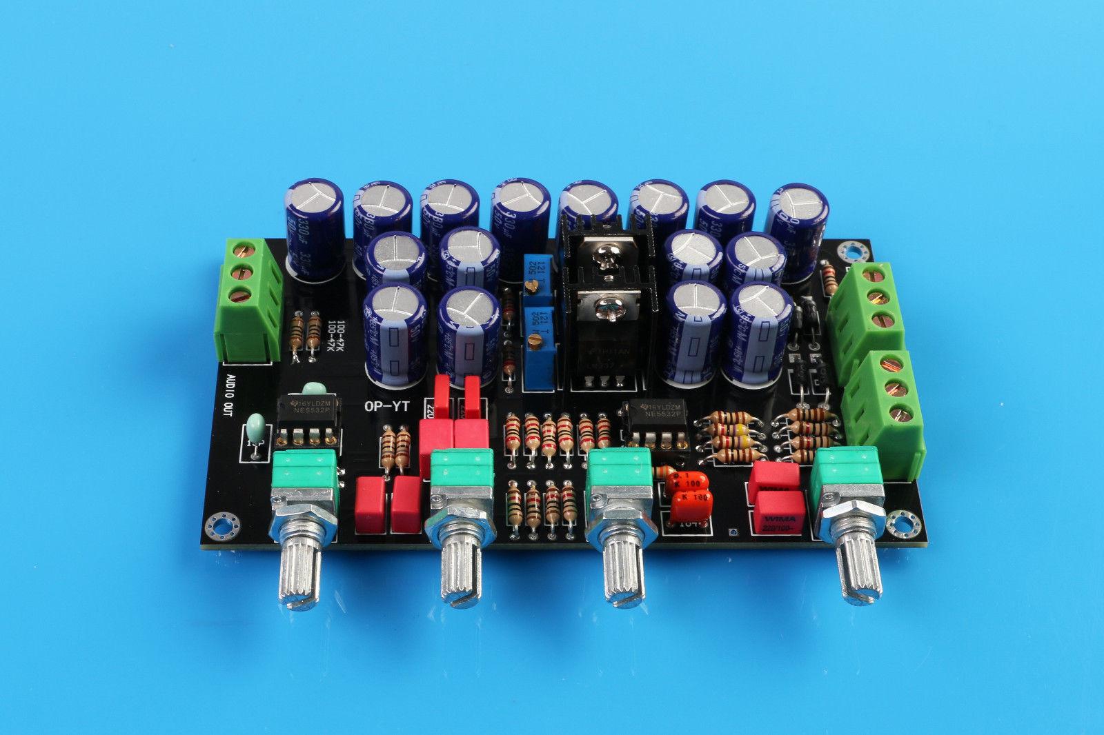 Assemblé HIFI Préamplificateur Bord de Ton NE5532 ampli-op Faible Bruit