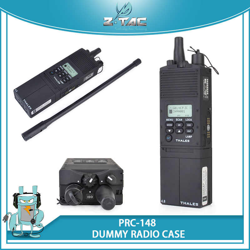 Z Tactical AN PRC 148 Multiband Inter Intra Team Radio Case MBITR Z022 For Wargame Cosplay Paintball Military Dummy Black