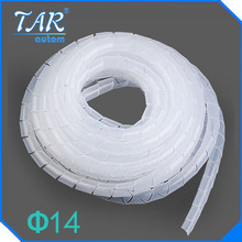 Diameter 14mm spiral bands 10M Cable casing Sleeves Winding pipe Spiral Wrapping PE Beam line tube Roll protective tape