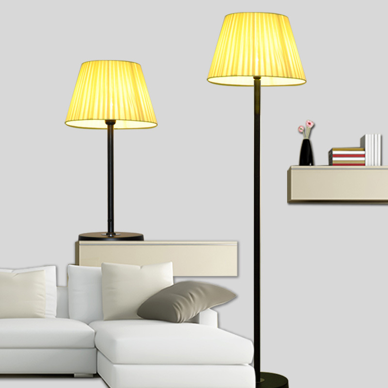 Фотография Fabric Floor Lamps Standing Lights Bedside Lamp Nordic Lambader Stehlampe Modern Stand Lights Home Lighting Modern  Floor Lamp