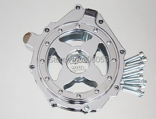 motorcycle parts Billet Engine Stator cover see through for Honda CBR1000RR 2004-2007 CHROME Left aftermarket free shipping motorcycle parts engine stator cover for honda cbr1000rr 2004 2005 2006 2007 left side black