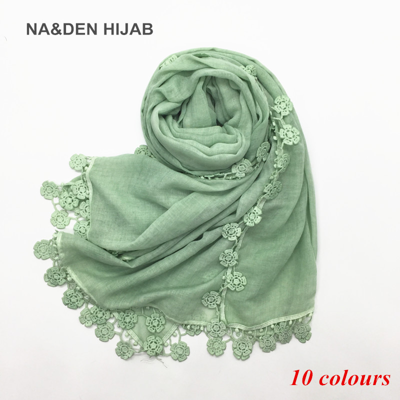 women embroider flowers four size edges scarf dirty effect style scarves and shawls solid muslim shawl soft fourlard 10pcs/lot