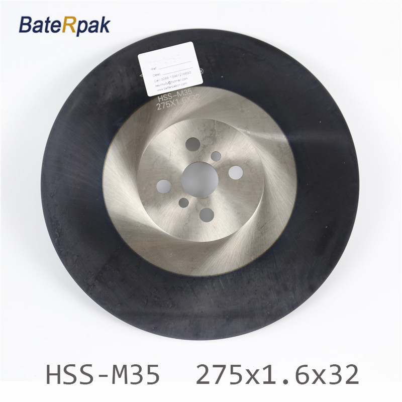 275x1.6x32mm BateRpak High quality HSS circular saw blade  Widely used in Cutting stainless steel with ALTIN coating 5pcs high quality 10pcs hcs hss ground teeth straight cutting t shank jig saw blade for wood