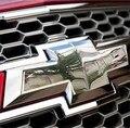 ¡ Venta caliente! 2 unids/lote frente espalda etiqueta engomada del logotipo 3d etiqueta engomada del coche accesorios de acero inoxidable para Chevrolet Cruze sedan 2009 2010 2011