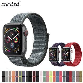Nylon Dây Đeo cho apple watch ban nhạc 4 44mm/40mm iWatch ban nhạc 42mm/38mm Thể Thao vòng vòng đeo tay đồng hồ correa vành đai cho apple watch 3 2 1