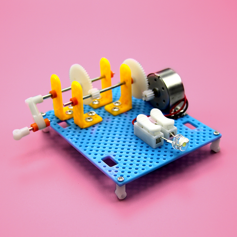 Manual Generator Model, Physical Science Experiment, Popular Science Toy, Diy Technology, Small Production, Self-made Generator diy kit turbo air connex electronics physical science education toy