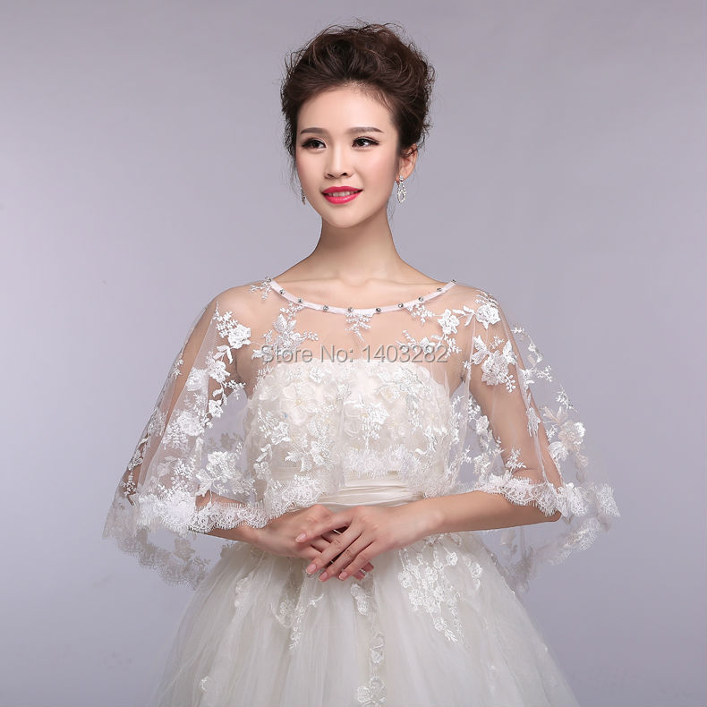 Online get cheap lace bolero alibaba group for Wedding dress with shrug
