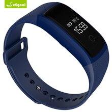 Leegoal A09 умный Браслет Сенсорный экран наручные часы браслет артериального давления монитор сердечного ритма шагомер фитнес Смарт-браслет