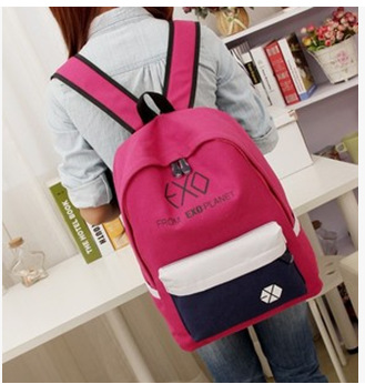 2017 NEW Women's Colorful Canvas Backpacks Rucksacks Men Student School Bags For Girl/Boy Preppy Style Casual Travel EXO Bags msmo 2017 new kpop exo canvas backpack sacks women men student school bags for girl boy casual travel exo bags