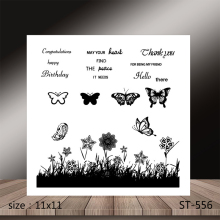 AZSG  Butterfly FLOWER Clear Stamps/Stamp/For Scrapooking/Card Making/Silicone Stamps/Decoration Crafts