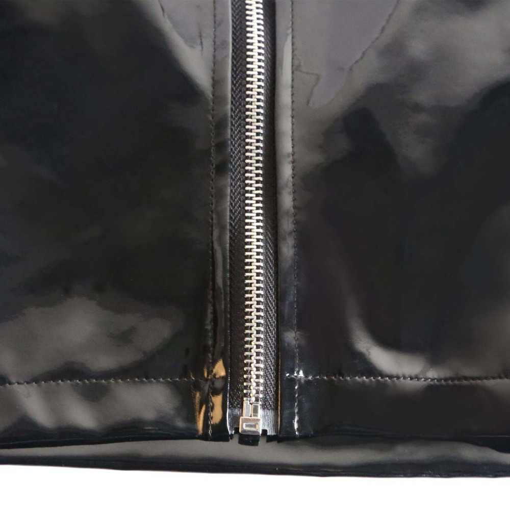 Mulheres Sexy Látex PVC Brilhante Curto Tanque Colheita Top Colete Com Zíper aberto Do Punk Clube Estágio Desgaste Desgaste da Dança Preto Plus Size F30