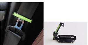 Image 4 - 2pcs Safety Belt Clip Seat Belt Pad Buckle Car Accessories Safety Stopper Belt Clip Tension Adjuster for Auto 53mm