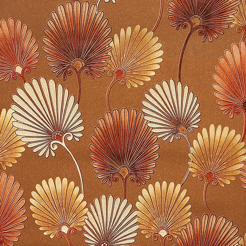Pastorale Vintage Floral papier peint 3D romantique fleur chambre papier peint pour murs 3D Mural papier peint PVC papier peint or argent - 4