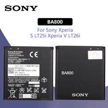 Sony Original Replacement Phone Battery BA800 1700mAh For SONY Xperia S LT25i Xperia V LT26i Phone Batteries аккумулятор monitor для sony xperia v lt25i ba800 4057 оригинал