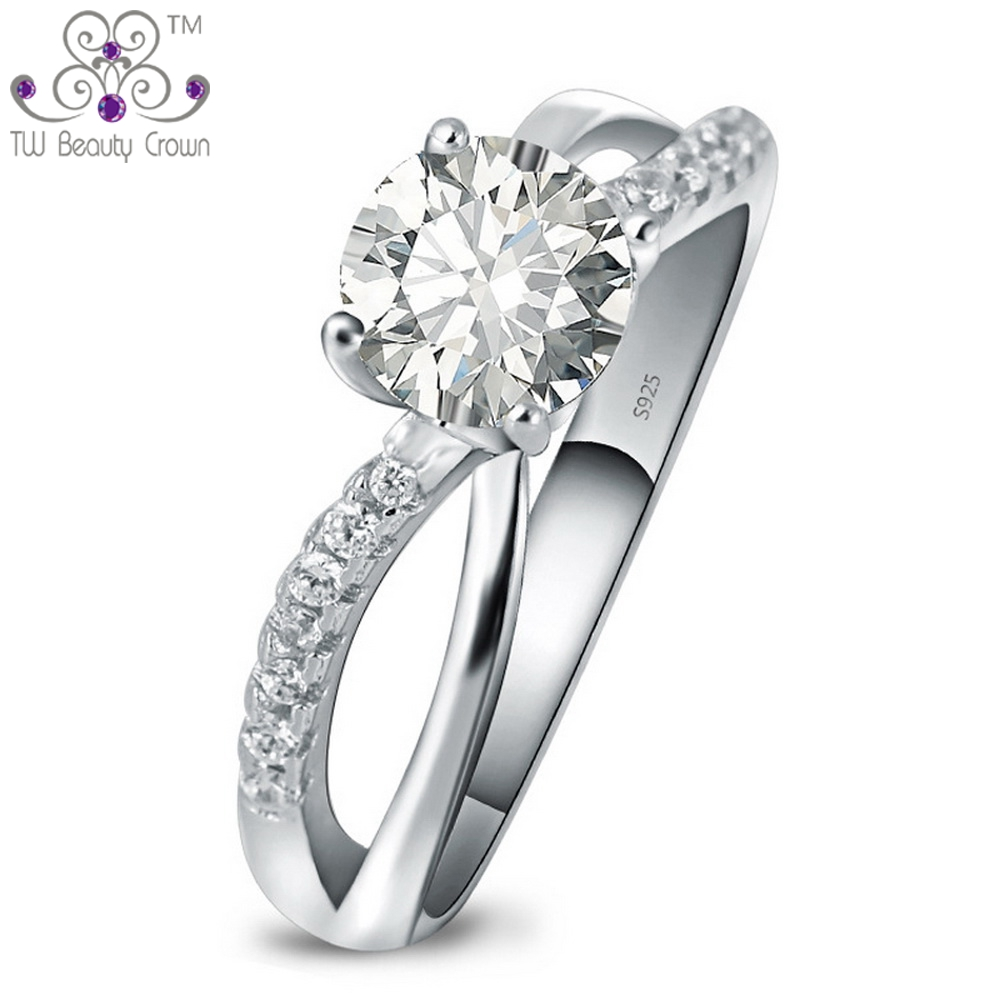 Hot Selling Real 925 Sterling Silver European U0026 American Design White Cubic  Zircon Women Wedding Middle Finger Rings Jewelry