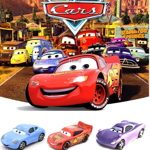 Disney Pixar Cars 3 Crazy Crashed Party Alloy Car Toys Lightning
