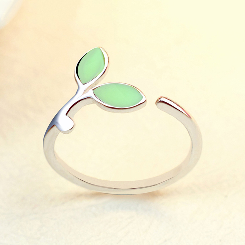 LNRRABC 1PC Chic Hot Sale Silver Green Opal Open Rings Alloy Women Adjustable Exquisite  ...