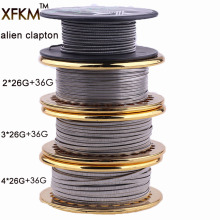 Hot 5m / roll RDA RBA를위한 NEW Wire Clapton Wire 재구성 가능한 원자로 가열 와이어 코일 Alien Clapton Heating Wire