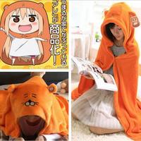 Himouto Umaru Chan Cloak Anime Umaru Chan Doma Umaru Cosplay Costume Plush Cloaks Blanket Soft Cape