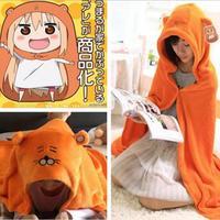 Himouto Umaru Chan Cloak Anime Umaru Chan Doma Umaru Cosplay Costume Plush Cloaks Blanket Soft Cape