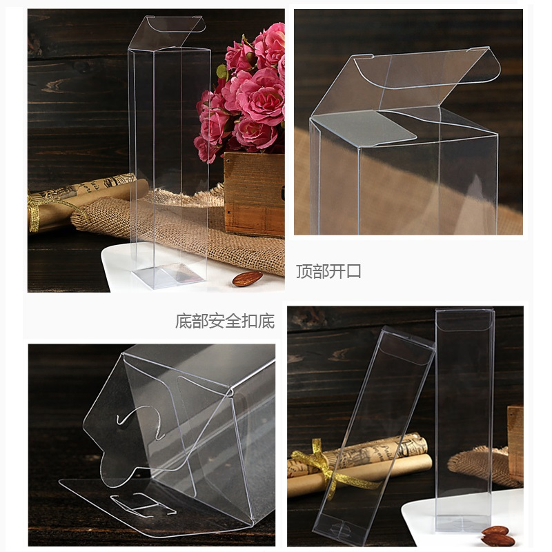 4 4H CM Transparent Waterproof PVC Clear Plastic Packaging Boxes Small Craft Gift Wedding Party Favor Transparent Package Box (6)