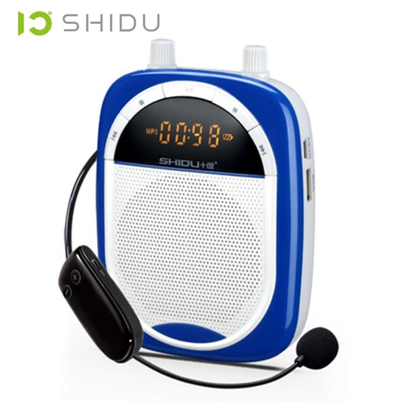 ФОТО SHIDU S610 2.4G mini portable speaker wireless Brand  microphone amplifier passive audio speakers megaphone Teacher wireless Mic