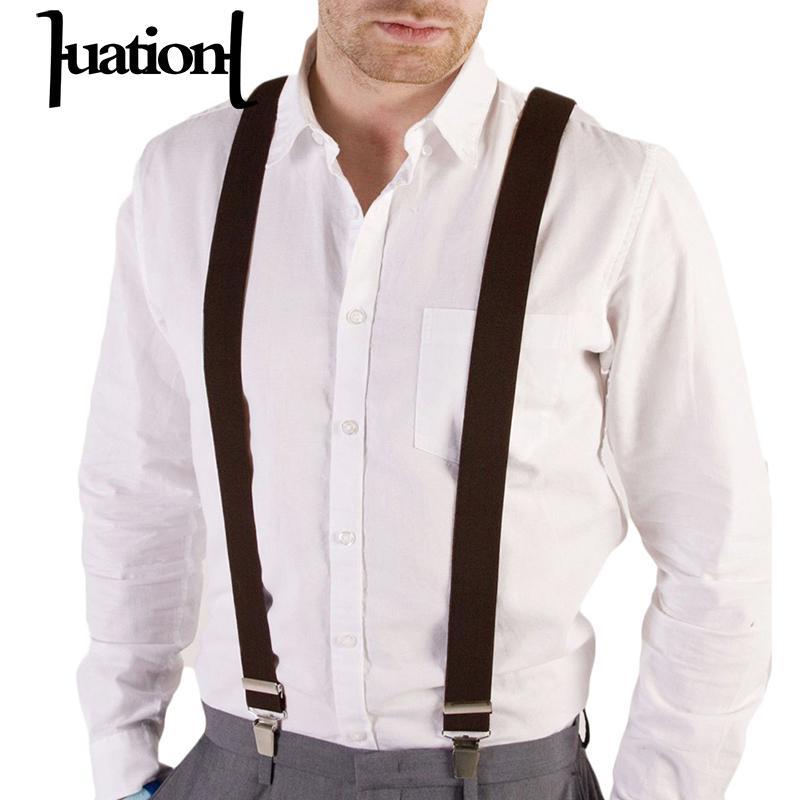 Huation Men/Women Clothing Suspenders Clip-on Braces Elastic Y-Shape Adjustable Suspenders Tirantes Unisex Braces Suspensorio