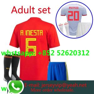 59bcc88a4e6 2018 2019 Spain set home away shirt 18 19 camisetas shirt survetement World  Cup man shirt