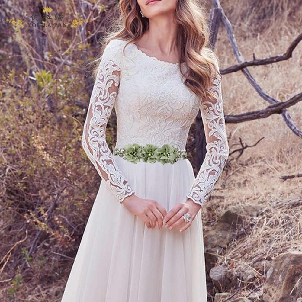 נשים אלגנטית אופנה פרח חגורת ילדה אישה אבנט חגורה חתונת Sashes חגורת סאטן סרט כלה אביזרי שמלת שמלת עיצוב