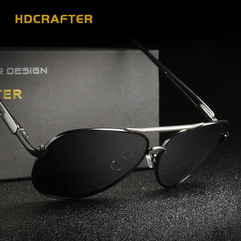 HDCRAFTER Men font b Fashion b font font b Polarized b font Pilot Sunglasses Brand Designer